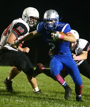 10-14-16<br /> Carroll vs Sheridan football<br /> Carroll's Trenton Brumett runs the ball.<br /> Kelly Lafferty Gerber | Kokomo Tribune