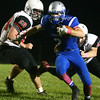 10-14-16<br /> Carroll vs Sheridan football<br /> Carroll's Trenton Brumett runs the ball.<br /> Kelly Lafferty Gerber | Kokomo Tribune