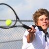 Boys Tennis between WHS and EHS on September 7, 2016.<br /> Western HS tennis #1 doubles Ashton Guyer<br /> Tim Bath | Kokomo Tribune