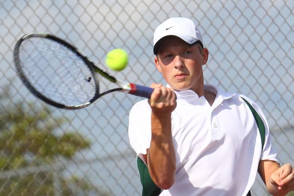 Boys Tennis between WHS and EHS on September 7, 2016.<br /> EHS tennis #1 Ryan Mandred<br /> Tim Bath | Kokomo Tribune