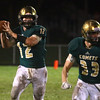 9-30-16<br /> Eastern vs Taylor football<br /> Eastern's Scott Mullenix looks for a pass.<br /> Kelly Lafferty Gerber | Kokomo Tribune