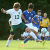 9-1-16<br /> Eastern vs Frankfort soccer<br /> Eastern's Cole Walker and Frankfort's Axel Hernandez.<br /> Kelly Lafferty Gerber | Kokomo Tribune