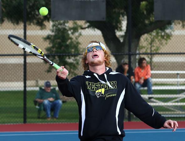 9-29-16<br /> Boys tennis sectional<br /> Western 1 doubles Chad Gifford<br /> Kelly Lafferty Gerber | Kokomo Tribune