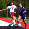 9-3-16<br /> Taylor vs Northwestern girls soccer<br /> Taylor's Austyn Huffer and Northwestern's Karina Hershberger.<br /> Kelly Lafferty Gerber | Kokomo Tribune