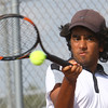 Boys Tennis between WHS and EHS on September 7, 2016.<br /> Western HS tennis #1 Pranav Haran<br /> Tim Bath | Kokomo Tribune