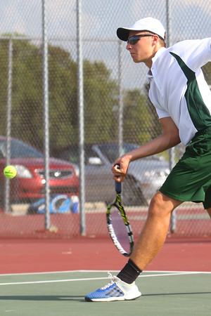 Boys Tennis between WHS and EHS on September 7, 2016.<br /> EHS tennis #2 Isaac Beachy<br /> Tim Bath | Kokomo Tribune