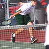 Boys Tennis between WHS and EHS on September 7, 2016.<br /> EHS tennis #1 doubles Zach Cowsert<br /> Tim Bath | Kokomo Tribune