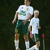 9-1-16<br /> Eastern vs Frankfort soccer<br /> Joe Hawes head butts the ball.<br /> Kelly Lafferty Gerber | Kokomo Tribune