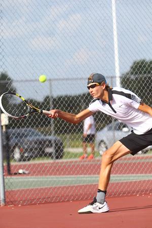 Boys Tennis between WHS and EHS on September 7, 2016.<br /> Western HS tennis #2 John Sullivan<br /> Tim Bath   Kokomo Tribune