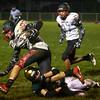 9-30-16<br /> Eastern vs Taylor football<br /> Eastern's Draeden Morris-Graber takes down Taylor's Brayden Hancock.<br /> Kelly Lafferty Gerber | Kokomo Tribune
