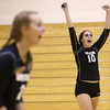 9-27-16<br /> Western vs Northwestern volleyball<br /> Western's Sophie Rogers celebrates after a point.<br /> Kelly Lafferty Gerber | Kokomo Tribune
