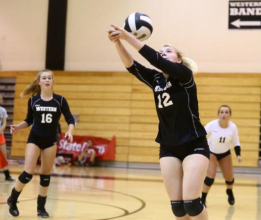 9-27-16<br /> Western vs Northwestern volleyball<br /> Western's Chase Epp<br /> Kelly Lafferty Gerber   Kokomo Tribune