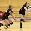 9-27-16<br /> Western vs Northwestern volleyball<br /> Northwestern's Kelli Gill (left) and Jenna Goodspeed.<br /> Kelly Lafferty Gerber | Kokomo Tribune