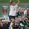 ERHS' Nicole Ramirez throws the ball back in.