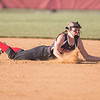 ERHS' Brianna Roach dives to catch a ground ball.