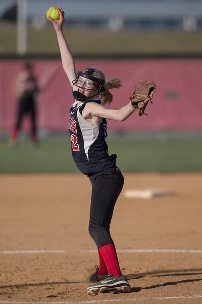 ERHS' Jessica McDonaldson pitches