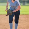 Sabrina Foltz prepares to pitch