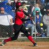 Madison Shifflett at bat.