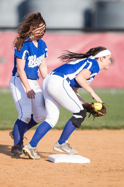 Montana Wilson prepares to throw a ground ball to first base