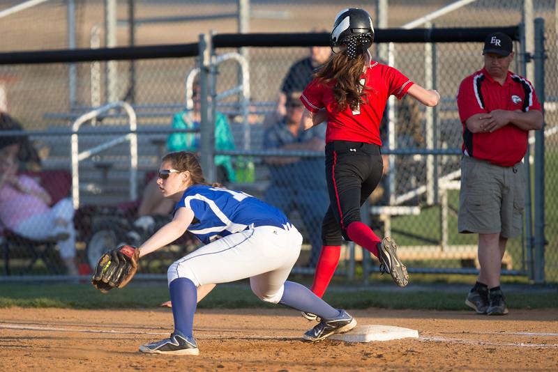 Mychaela Randall catches ball at first ball