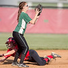 Haley Shifflett slides in to second base beating the throw to Wilson's Bri Meek