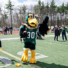 Freddie the Falcon makes an appearance during the Special Olympics at FSU's Elliot Field on Friday morning. SENTINEL & ENTERPRISE / Ashley Green