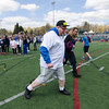 Leominster's Evan Killay competes in the Special Olympics at Fitchburg State's Elliot Field on Friday morning. SENTINEL & ENTERPRISE / Ashley Green