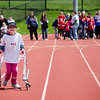 South Street Elementary's Zoe Kramer competes in the Special Olympics at Fitchburg State's Elliot Field on Friday morning. SENTINEL & ENTERPRISE / Ashley Green