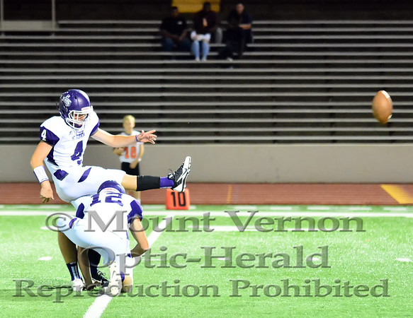 Mount Vernon Varsity Tigers vs Commerce Tigers Football photos