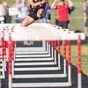 Arielle Kowaleski in the 100 meter hurdles
