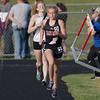 Jasmine Shelton  in the girls 4x800 relay.