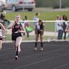 Rachel Knott in the girls 4x100 Relay
