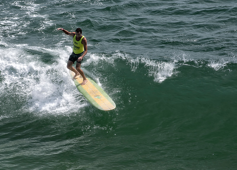 Color Coodinated Longboarder