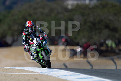 Jonathan Rea GBR Kawasaki ZX-10R Kawasaki Racing Team, The Motul FIM Superbike World Championship, GEICO Motorcycle U.S. Round, featuring the Honda Superbike Showdown of California at Mazda Raceway Laguna Seca