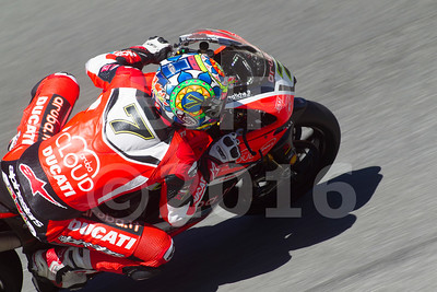 Chaz Davies GBR Ducati Panigale R Aruba.it Racing - Ducati, The Motul FIM Superbike World Championship, GEICO Motorcycle U.S. Round, featuring the Honda Superbike Showdown of California at Mazda Raceway Laguna Seca