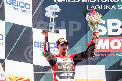 Davide Giugliano ITA Ducati Panigale R Aruba.it Racing - Ducati, The Motul FIM Superbike World Championship, GEICO Motorcycle U.S. Round, featuring the Honda Superbike Showdown of California at Mazda Raceway Laguna Seca