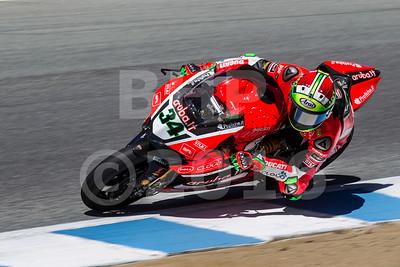Davide Giugliano ITA Ducati Panigale R Aruba.it Racing - Ducati, The Motul FIM Superbike World Championship, GEICO Motorcycle U.S. Round, featuring the Honda Superbike Showdown of California at Mazda Raceway Laguna Seca