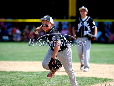 8/13/2016 Mike Orazzi | Staff Rhode Island's Cullen McGrew (27) during the New England Final at the Eastern Regional Little League Tournament in Bristol Saturday afternoon. Warwick North defeated Fairfield American 5-1 to advance to the Little League World Series.