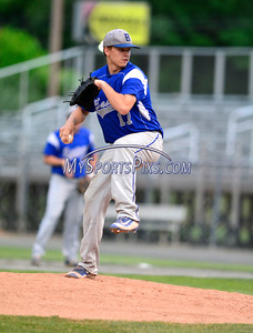 6/7/2016 Mike Orazzi | Staff Bristol Eastern's Tyler Troth (17) on the mound during the Class L Semifinal baseball game with East Lyme at Palmer Field in Middletown Tuesday night.