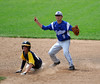 6/4/2016 Mike Orazzi | Staff<br /> Bristol Eastern's Cory Fradette (8) starts a double play with East Haven's Jake Ferrara (9) during a BE win in the Class L Quarterfinal at Muzzy Field Saturday.
