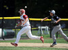 8/13/2016 Mike Orazzi | Staff<br /> Connecticut's Richie Kerstetter (14) and Rhode Island's Domenic Brazeau (12) during the New England Final at the Eastern Regional Little League Tournament in Bristol Saturday afternoon. Warwick North defeated Fairfield American 5-1 to advance to the Little League World Series.