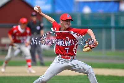 5/14/2016 Mike Orazzi   Staff Berlin High School's Matthew Vernacatola (7) during Saturday's baseball game with New Britain at Bee Hive Stadium in New Britain.