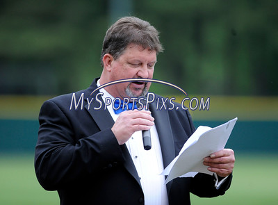 6/3/2016 Mike Orazzi | Staff  Bristol Blues General Manager Rick Muntean  during the home opener of the Bristol Blues at Muzzy Field Friday night.