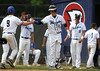 6/4/2016 Mike Orazzi | Staff<br /> St. Paul's Zachary Parent (9) and Connor Crean (12) celebrate during the Class S Quarterfinal with Portland High School in Bristol Saturday.
