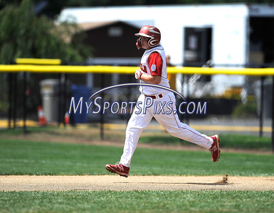 8/12/2016 Mike Orazzi   Staff Connecticut's Richie Kerstetter (14) rips a home run during the Eastern Regional Little League Tournament at Breen Field Friday.