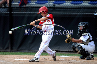8/12/2016 Mike Orazzi   Staff Connecticut's Ben Gaffney (1) during the Eastern Regional Little League Tournament at Breen Field Friday.