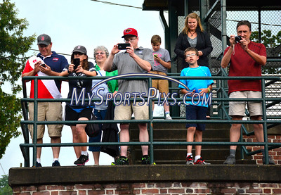 7/14/2016 Mike Orazzi | Staff Fans as Hall of Fame baseball player and former Bristol Red Sox baseball player Jim Rice while at Muzzy Field in Bristol Thursday.