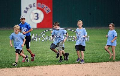 7/19/2016 Mike Orazzi | Staff Children from local camps during the Bristol Blues Game with the Brockton Rox at Muzzy Field on Tuesday.