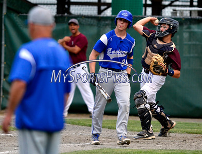 6/7/2016 Mike Orazzi | Staff Bristol Eastern's Zach Marquis (9) during the Class L Semifinal baseball game with East Lyme at Palmer Field in Middletown Tuesday night.