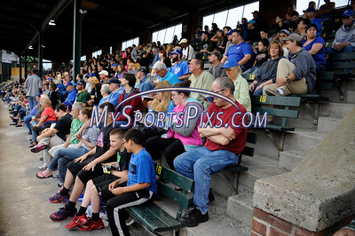 6/3/2016 Mike Orazzi | Staff  Fans during the Bristol Blues home opener at Muzzy Field Friday night.